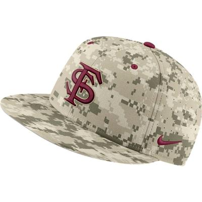 Florida State Nike Aerobill Camo Baseball Fitted Hat