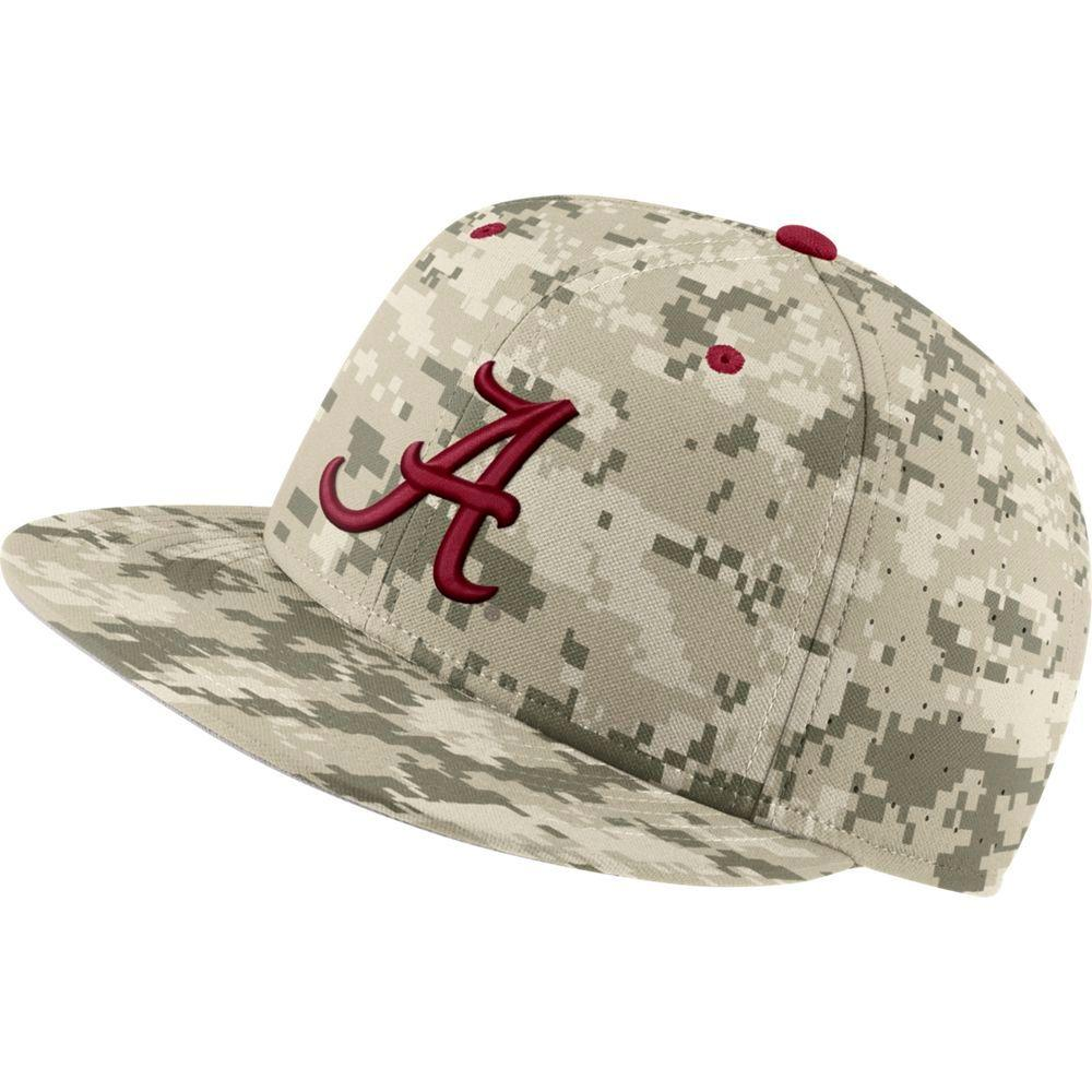 Alabama Nike Aerobill Camo Baseball Fitted Hat