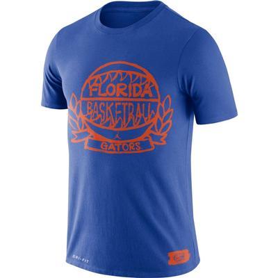 Florida Jordan Brand Gators Basketball Crest Tee