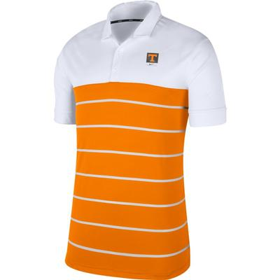 Tennessee Nike Label Striped Polo