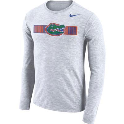 Florida Nike Dri-Fit Cotton Long Sleeve Slub Logo Tee