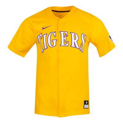 LSU Nike Gold Baseball Jersey