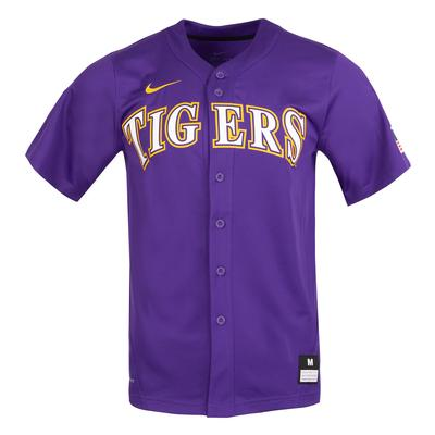 LSU Nike Purple Baseball Jersey