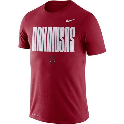 Arkansas Nike Men's Legend Crew Tee