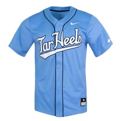 UNC Nike Tar Heel Script Baseball Jersey