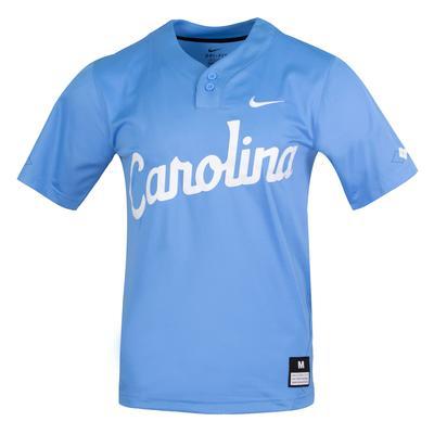 UNC Nike Carolina Script Baseball Jersey