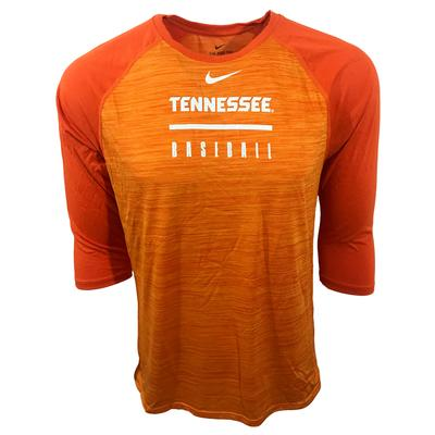 Tennessee Nike Men's Legend Raglan Baseball Tee
