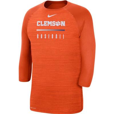 Clemson Nike Men's Legend Raglan Baseball Tee