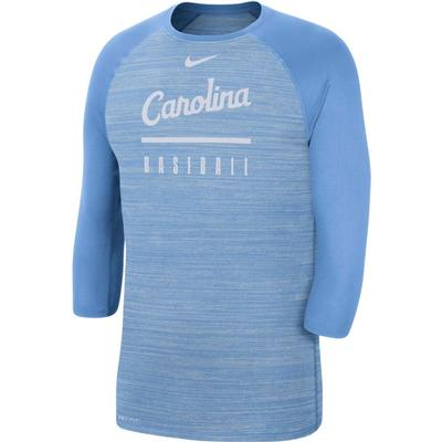UNC Nike Men's Legend Raglan Baseball Tee