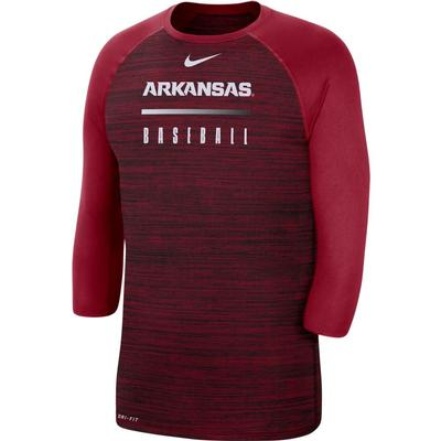Arkansas Nike Men's Legend Raglan Baseball Tee