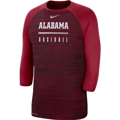 Alabama Nike Men's Legend Raglan Baseball Tee