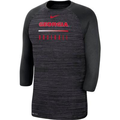 Georgia Nike Men's Legend Raglan Baseball Tee