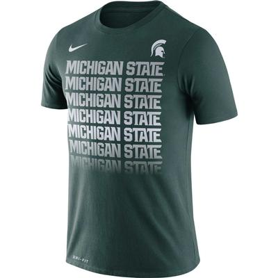 Michigan State Nike Dri-Fit Cotton Fading Tee