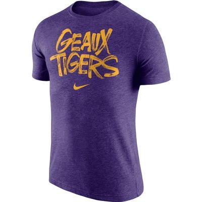 LSU Geaux Tigers Nike Tri Blend Tee
