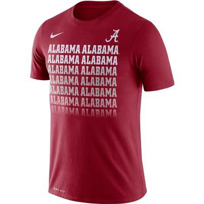 Alabama Nike Dri-Fit Cotton Fading Tee