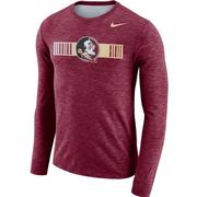 Florida State Nike Dri- Fit Cotton Long Sleeve Slub Logo Tee