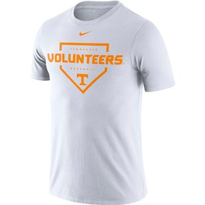 Tennessee Nike Men's Dri-fit Cotton Baseball Plate Tee