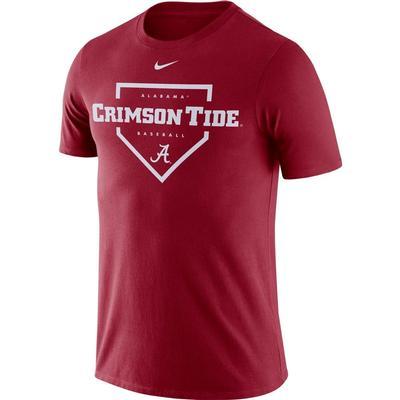 Alabama Nike Men's Dri-fit Cotton Baseball Plate Tee