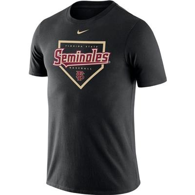 FSU Nike Men's Dri-fit Cotton Baseball Plate Tee
