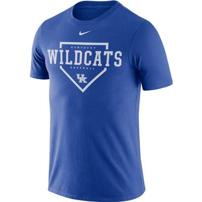 Kentucky Nike Men's Dri-fit Cotton Baseball Plate Tee