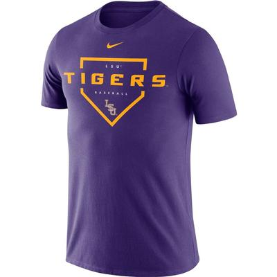 LSU Nike Men's Dri-fit Cotton Baseball Plate Tee
