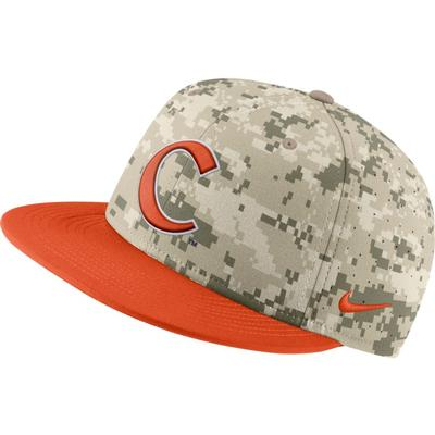 Clemson Nike Aerobill Camo Baseball Fitted Hat