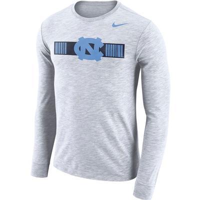 UNC Nike Men's Dri-fit Cotton Slub Logo Tee