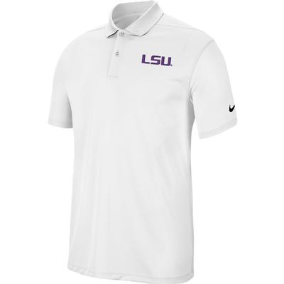 LSU Nike Golf Dry Victory Solid Polo WHITE