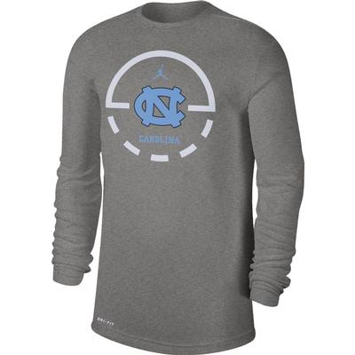 UNC Nike Men's Dry Legend Key 2.0 Tee