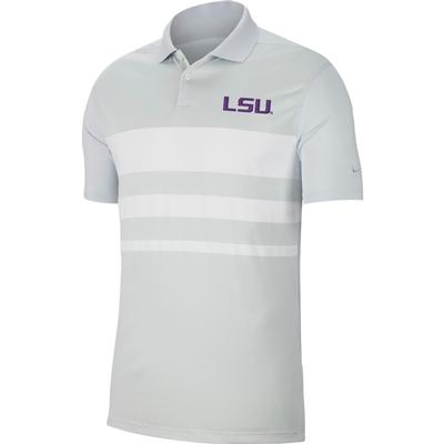 LSU Nike Golf Dry Vapor Stripe Polo