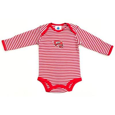 Western Kentucky Infant Striped LS Bodysuit
