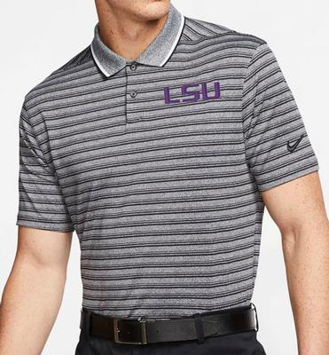 LSU Nike Golf Dry Vapor Control Stripe Polo
