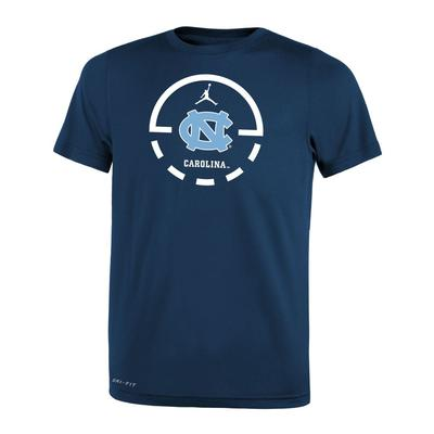 UNC Jordan Brand Court Logo Dri-Fit Legend Toddler Tee