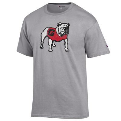 Georgia Champion Giant Standing Bulldog Tee Shirt