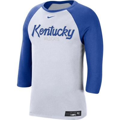 Kentucky Nike Men's Dri-fit Cotton Raglan Baseball Tee