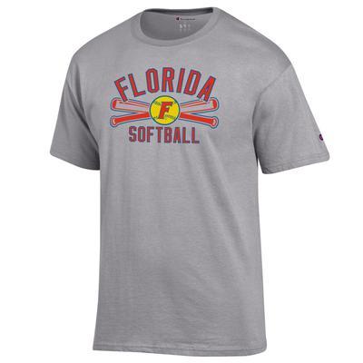 Florida Champion Softball Crossed Bats Tee