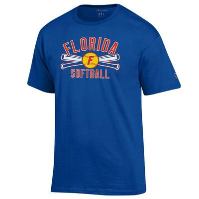 Florida Champion Softball Crossed Bats Tee