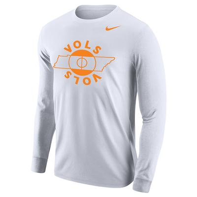 Tennessee Basketball VOLS Court Nike Long Sleeve Tee