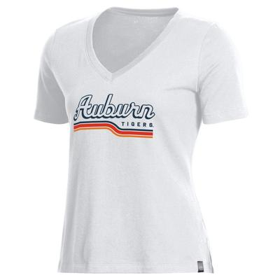 Auburn Under Armour Women's Performance Cotton V-Neck Tee