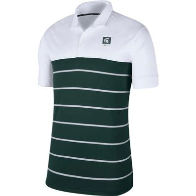 Michigan State Nike Label Striped Polo