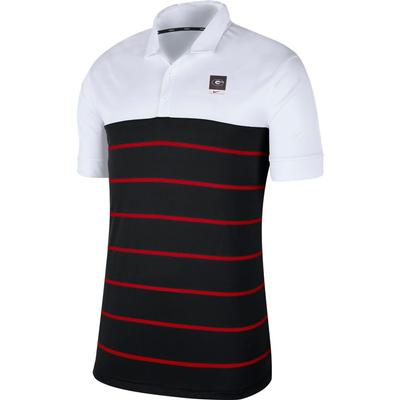 Georgia Nike Label Striped Polo