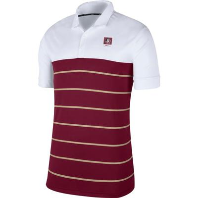 Florida State Nike Label Striped Polo