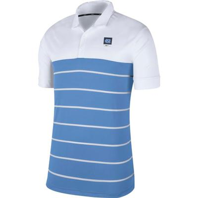 UNC Nike Label Striped Polo
