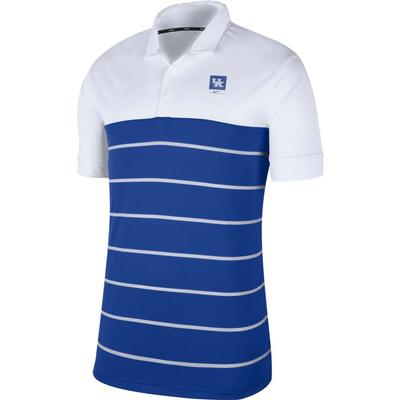 Kentucky Nike Label Striped Polo