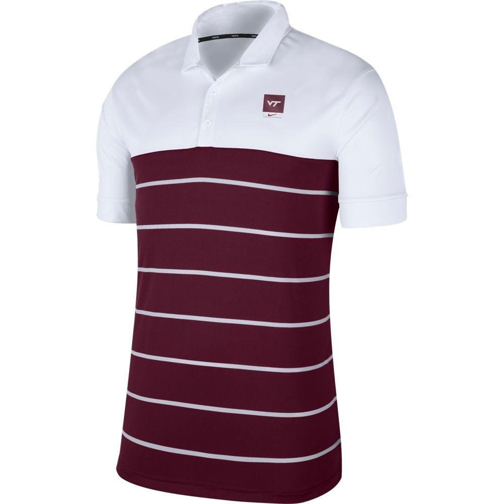 Virginia Tech Nike Label Striped Polo