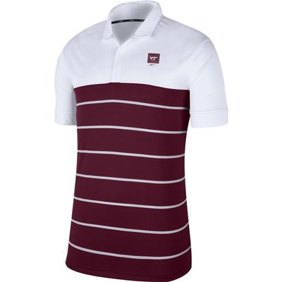 Virginia Tech Nike Label Striped Polo