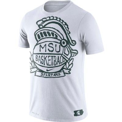 Michigan State Nike Basketball Crest Tee