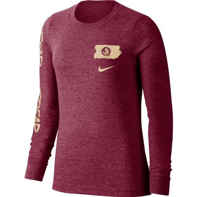 Florida State Nike Women's Triblend Long Sleeve Tee