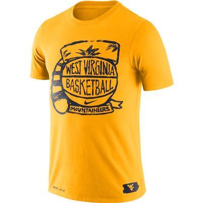 West Virginia Mountaineers Nike Basketball Crest Tee