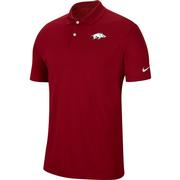 Arkansas Nike Golf Dry Victory Solid Polo